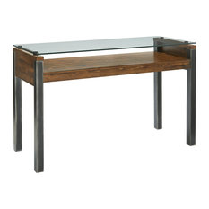 Midtown Glass Sofa/Console Table