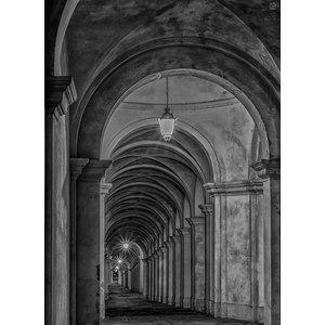 Black and White Gallery Wallpaper, Non-Woven Paper, 270x400 cm