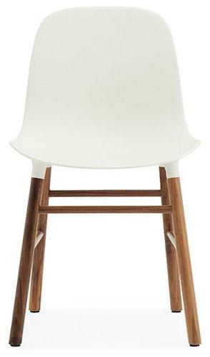 Form Stol, Vit/Valnöt - Spisebordsstole