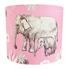 Elephant Love Linen Lampshade, Table Lamp Fitting, Large