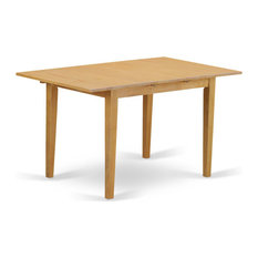 """Norfolk Rectangular Table With 12"""" Butterfly Leaf, Oak Finish"""