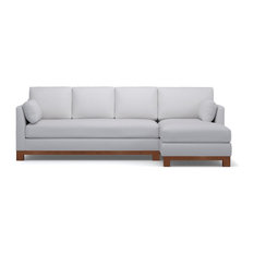 Apt2b Avalon 2 Piece Sectional Sofa Stone Chaise On Left Sofas