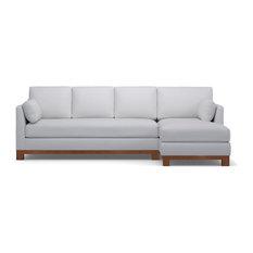 Apt2b Avalon 2 Piece Sectional Sofa Stone Chaise On Left