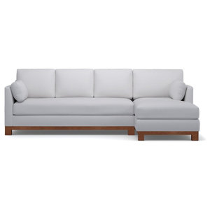 Avalon 2-Piece Sectional Sofa, Stone, Chaise on Right