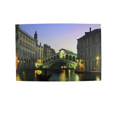 Battery Operated 4 LED Venice Italy Scene Canvas Wall Hanging, 23.5""