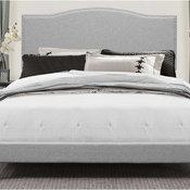 Hillsdale Kiley Upholstered King Panel Bed in Glacier Gray