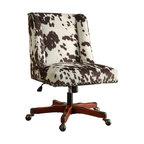 Draper Office Chair Udder Madness Milk, Walnut Wood Base