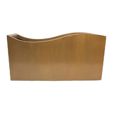 """Swell Planter with Recessed Base, 48"""" x 14"""" x 24"""", Bronze"""