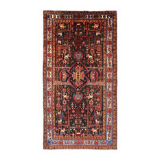 """New Hand-Knotted Full Pile Wool Persian Nahavand Rug, 5'7""""x10'9"""""""