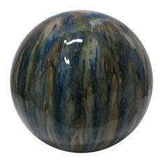 "Marbled Ceramic Gazing Globe, 10"""