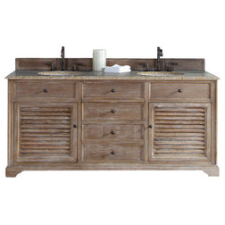 Lovely Beach Style Bathroom Vanities And Sink Consoles Savannah Driftwood Double Vanity With Beige Rust