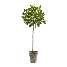 38 in. Potted Orange Tree in Green