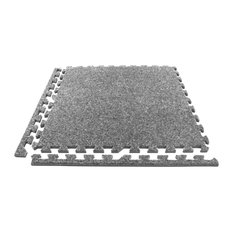 "24""x24"" Eco Soft Foam Carpet Tiles, Set of 12, Light Gray"