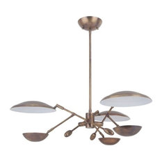 "Pavilion 29.50"" 45W 3 LED Chandelier, Patina Aged Brass"