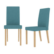Anna Dining Chairs, Set of 2, Teal
