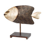 Recycled Metal Fish Home Decor Decorative Objects And