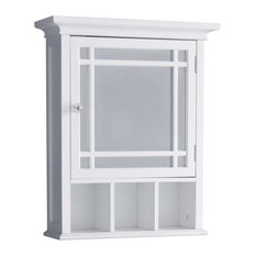 Elegant Home Fashions   Neal Medicine Cabinet With Mirror And Cubbies, White    Medicine Cabinets