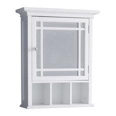 Elegant Home Fashions Neal 1-Door Medicine Cabinet in White
