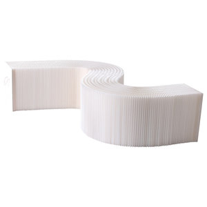 Concertina Paper Bench, White, Large