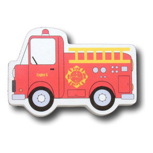 Fire Truck Wooden Drawer Pull