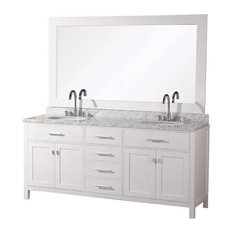 London Double-Sink Vanity Set, Pure White, 61""
