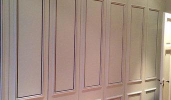 Garderobsdörrar med dekor