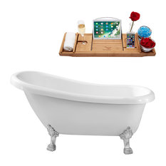 "61"" Streamline N480CH Soaking Clawfoot Tub With Internal Drain"