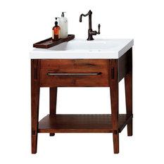 Ronbow Portland Solid Wood 30-inch Vanity Cabinet Base Rustic Pine