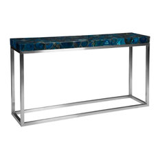 Agate Console Table Stainless Steel Base
