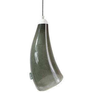 Glass Conical Pendant Light, Grey