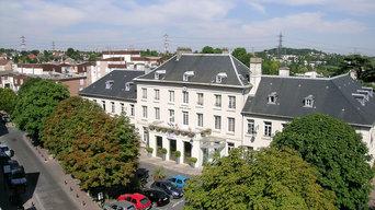 Photo mât télescopique de la Mairie de Palaiseau (91)