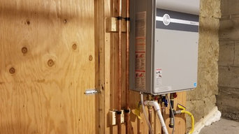 On demand water heater installation