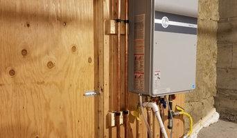 On demand water heater installation