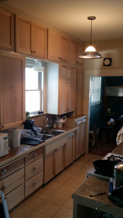 Should I Paint Cabinets Or Strip Paint Of Frame To Have A Wood Look