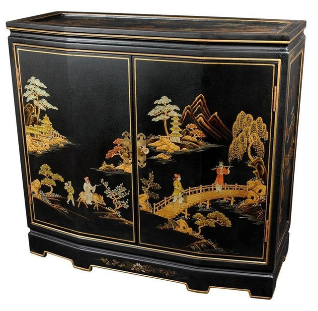 """32"""" Japanese Slant Front Cabinet - Buffets And Sideboards - by Oriental Furniture"""