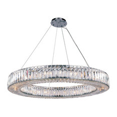 Cuvette Collection 24-Light Chrome Finish Chandelier
