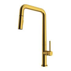 VIGO Parsons Kitchen Faucet, Matte Brushed Gold