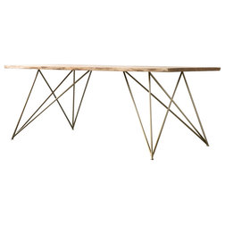 Industrial Dining Tables by NUTSANDWOODS