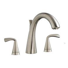 American Standard 7186.9 Fluent Deck Mounted Roman Tub Faucet Trim, Satin Nickel