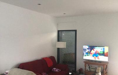 Antes y después: De salón soso a espacio cálido y moderno