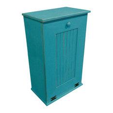 Sawdust City Llc Wooden Trash Bin Large Turquoise Trash Cans
