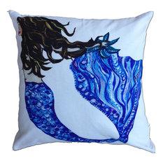 Brunette Mermaid Pillow