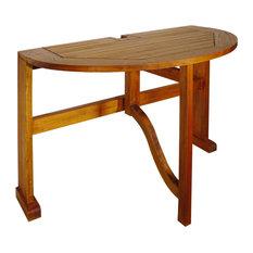 "Terrace Mates 36"" Caleo Half-Round Drop-Leaf Gate Leg Table"