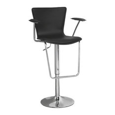 Modern Selections Jaques Adjustable Height Swivel Bar Stool Black Bar Stools And Counter