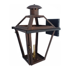 French Quarter Copper Lantern Made in the USA, Black Powder Coat, 21, Ng