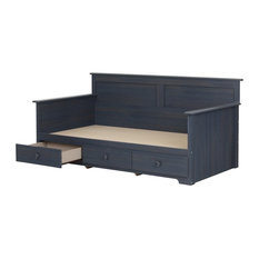 "Summer Breeze Twin Daybed With Storage 39"", Blueberry"