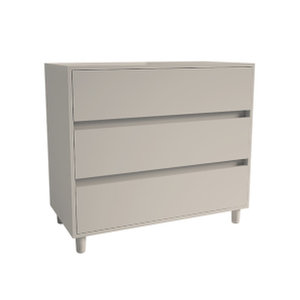 3 Drawer Chest with Soft Close, Cashmere