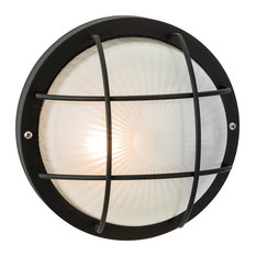 Court Wall or Flush Outdoor Light, Black