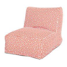 Outdoor Orange Towers Bean Bag Chair Lounger