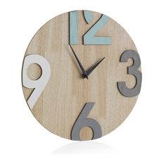 Granada Wooden Wall Clock, Natural